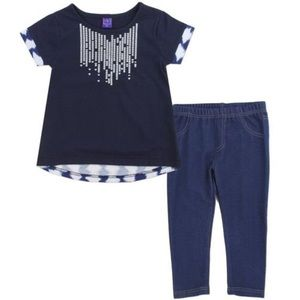 Other - Two Piece Denim Style Toddler Outfit - 24 Months